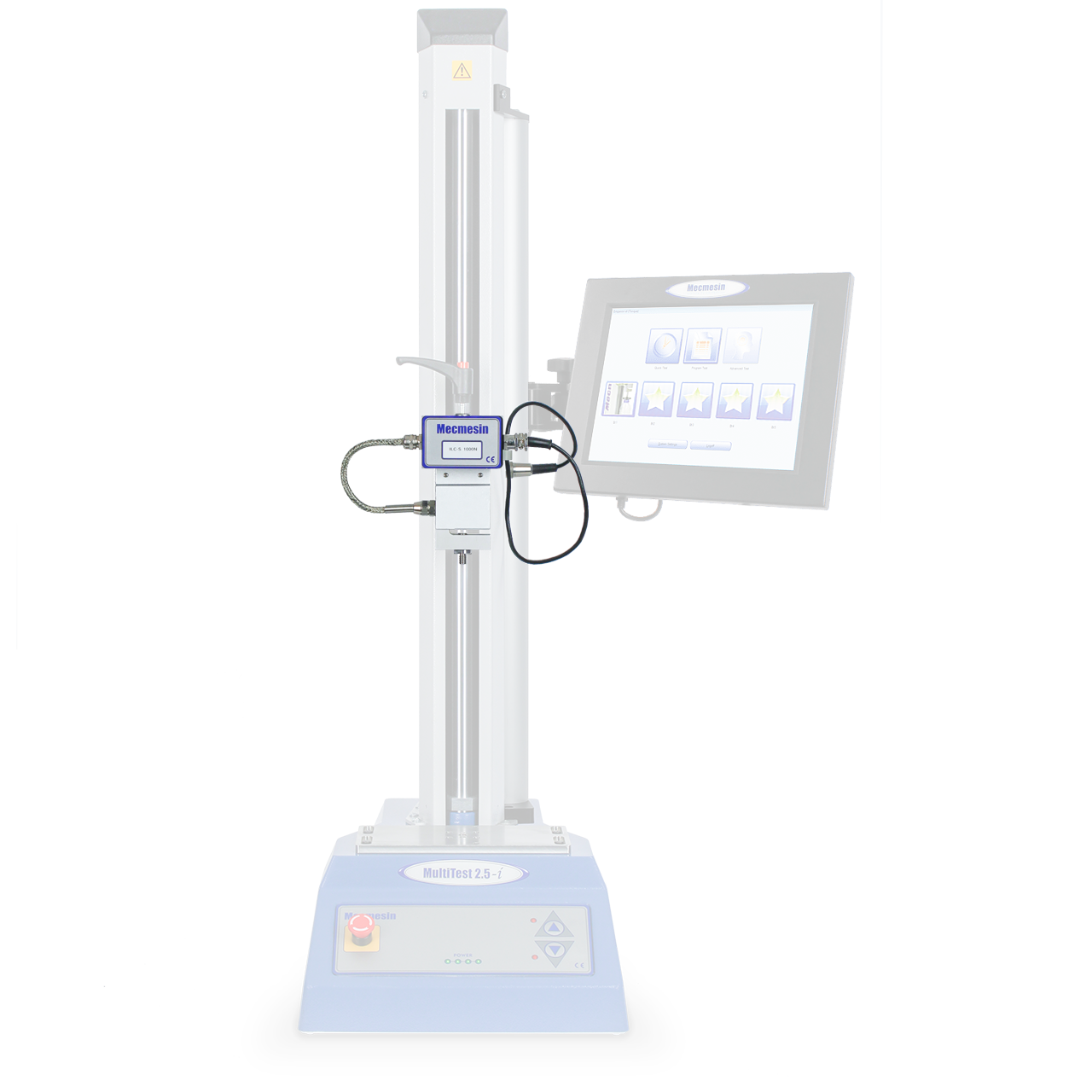 MultiTest-i 2.5 kN automated force testing system, sensor/loadcell emphasised
