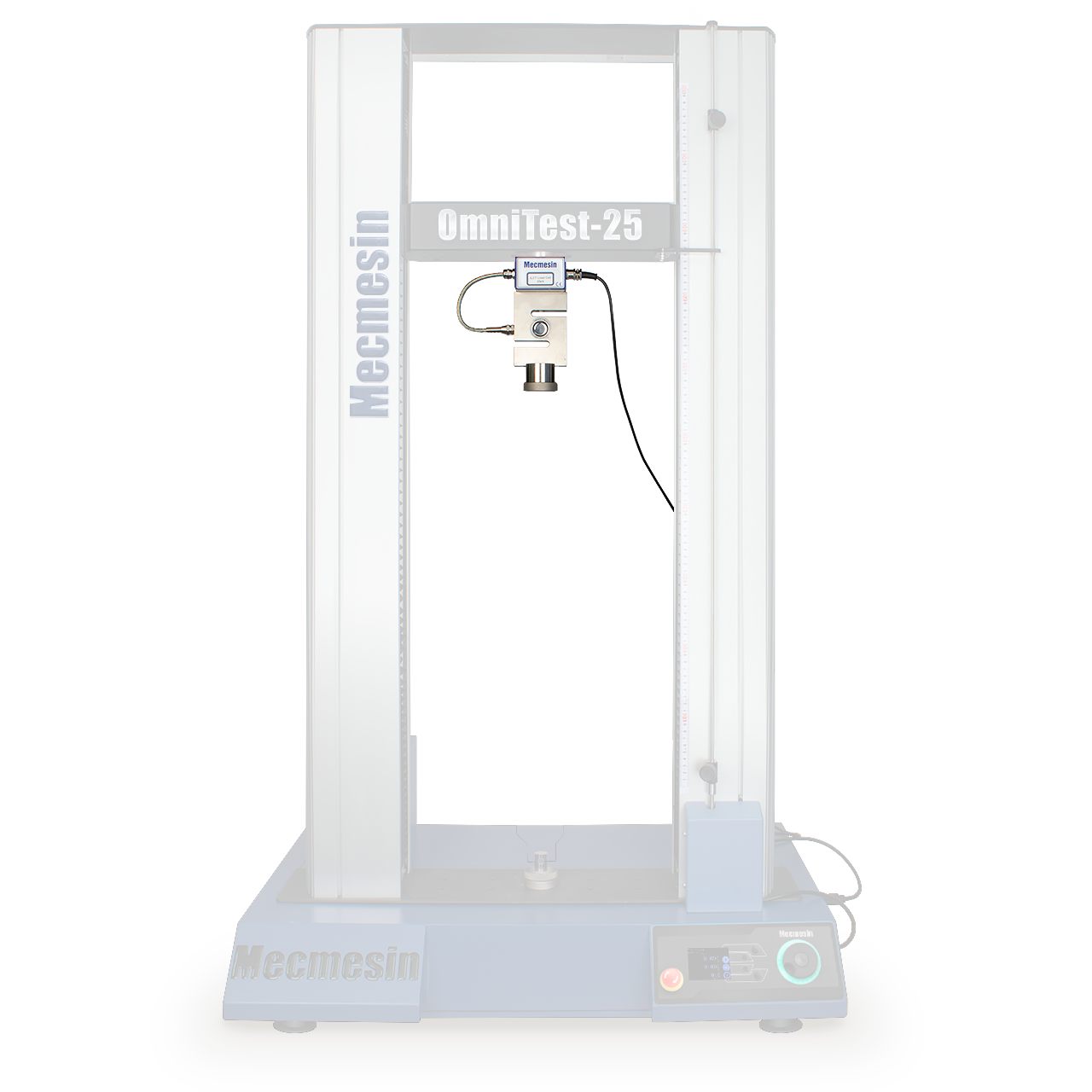 OmniTest twin-column 10, 25 and 50 kN materials tester - sensor emphasised