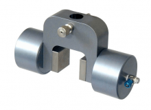 Pneumatic Vice Action Grip with 2 pneumatic rods, 30 mm capacity, pair (without jaws), QC fitting