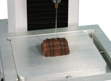 needle probe in chocolate