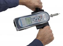 AFG shotcrete penetrometer with hands, no background