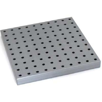 Mec36-L square perforated aluminium compression plate, QC fitting