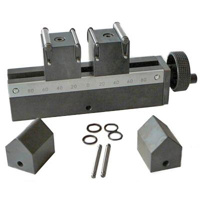 Mec103 50 kN bend Jig, example with central gearing, QC fitting