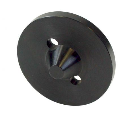 compression plate, vented cone, 50 mm, 10-32 UNF