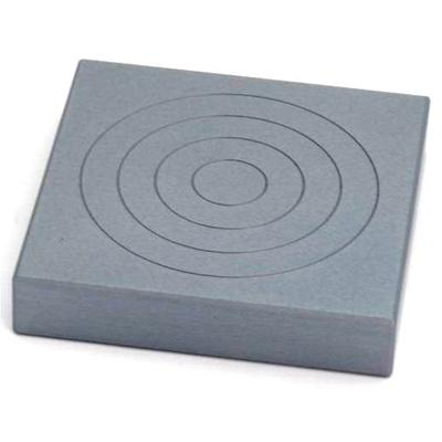 Mec36-St square aluminium compression plate, 100 mm, QC fitting