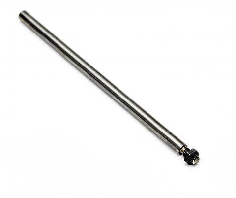 130mm extension rod with nut 500N, 10-32 UNF