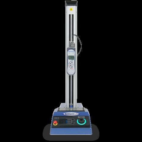 ภาพผลิตภัณฑ์ของเครื่องทดสอบแรงกดแบบมอเตอร์ MultiTest-dV พร้อม Advanced Force Gauge สำหรับการทดสอบแรงดึงและแรงกดโดย Mecmesin
