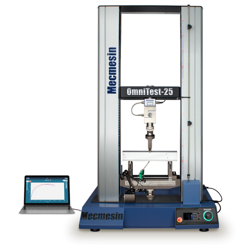 OmniTest twin-column 10, 25 and 50 kN materials and universal tester by Mecmesin