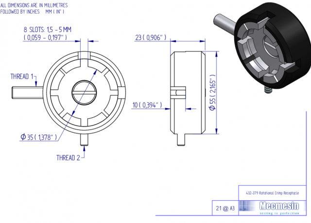 432-379 Rotational Crimp Receptacle