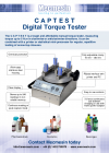 Digital Torque Tester (CAPTEST) brochure (PDF)