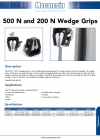 500 N and 200 N Wedge Grips