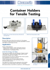 Container holders for tensile testing DS-1107-06-L00