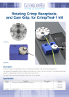 Rotating crimp receptacle and cam grip for CrimpTest-1 kN