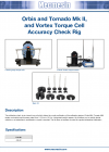 Orbis and Tornado Mk II, and Vortex Torque Cell Accuracy Check Rig