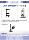 Cork Extraction Test Rig DS-1108-02-L00