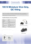 100 N Miniature Vice-Grip with integral pyramid jaws, QC fitting DS-1063-02-L00