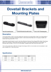 Dovetail Brackets and Mounting Plates