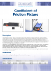 Coefficient of Friction Fixture