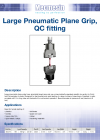 Large Pneumatic Plane Grip, QC fitting