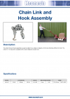 Chain Link and Hook Assembly