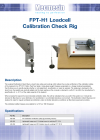 FPT-H1 Loadcell Calibration Check Rig DS-1090-01