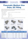Pneumatic Medium Vice Action Grips, QC fitting
