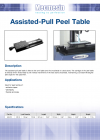 Assisted-Pull Peel Table