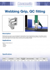 Webbing Grip, QC fitting