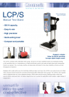 LCP/S Precision-Lever Manual Stand - Datasheet