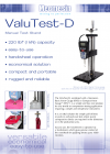ValuTest-D Basic-Handwheel Stand Manual - แผ่นข้อมูล