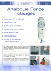 'Simple' Analogue Force Gauge - Datasheet