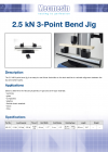 2.5 kN 3-Point Bend Jig DS-1018-02
