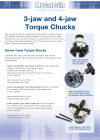 3-jaw and 4-jaw Torque Chucks, QC fitting DS-1130-02-L00