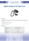 Digital gauge to PC input tool