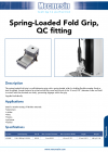 Spring-Loaded Fold Grip, QC fitting