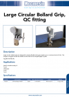 Large Circular Bollard Grip, QC fitting
