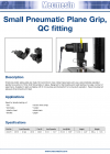 Small Pneumatic Plane Grip, QC fitting