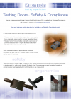 Testing doors: safety and compliance
