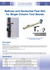 Bellows and Horizontal Feet Kits for Single Column Test Stands DS-1031-01