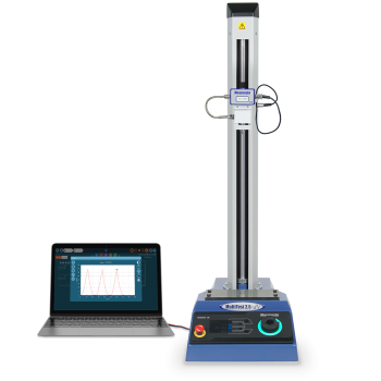 Product image of MultiTest-dV motorised force tester with ELS for materials testing by Mecmesin