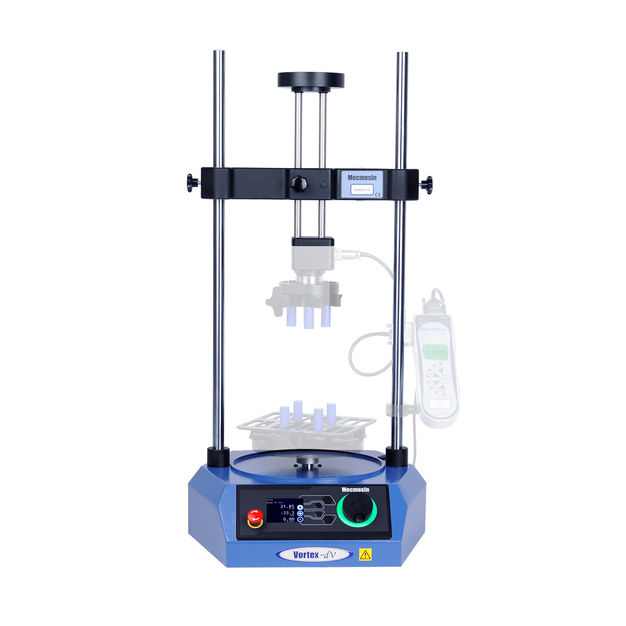 Vortex-dV motorised torque testing system frame/stand emphasised