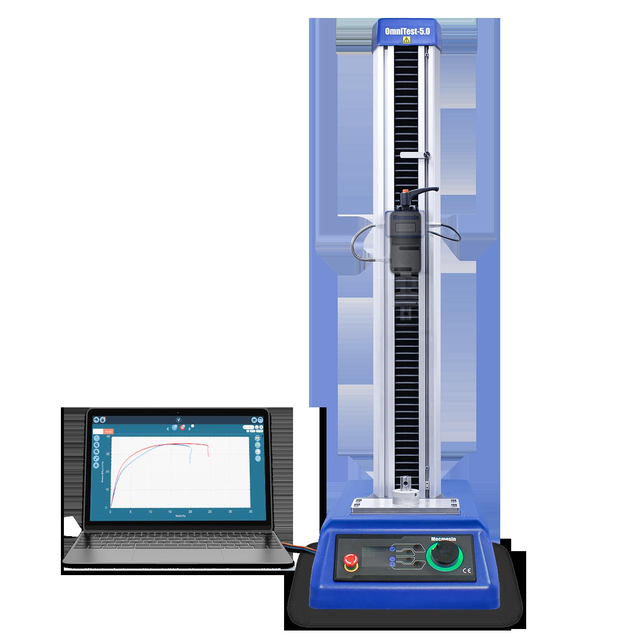 OmniTest single-column materials tester test frame emphasised