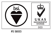 Logotipo de BSI ISO 9001 / UKAS Quality Management